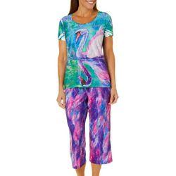 Leoma Lovegrove Womens Krystel Capris Pajama Set