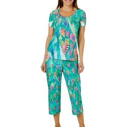 Leoma Lovegrove Womens Purity Hearts Capri Pajama Set