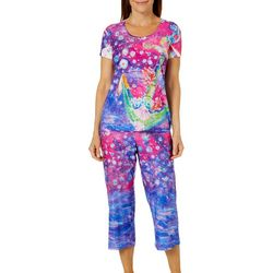 Leoma Lovegrove Womens Purity SOS Capri Pajama Set