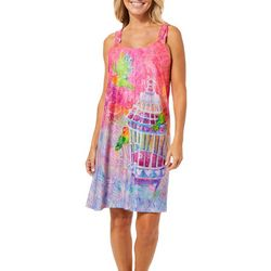Leoma Lovegrove Womens Who Let The Birds Out Tank Nightgown