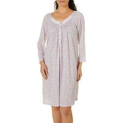 Aria Womens Dainty Floral Print 3/4 Sleeve Short