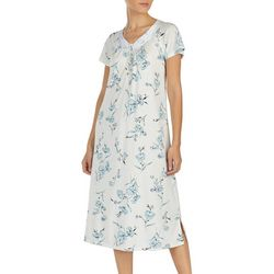 Aria Womens Floral Print Ballet Nightgown
