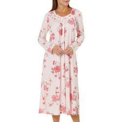 Aria Womens Floral Long Sleeve Ballet Nightgown