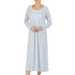Aria Womens Floral Long Sleeve Pintuck Ballet Nightgown