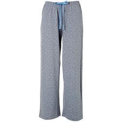 Womens Heathered Heart Print Long Pajama Pants