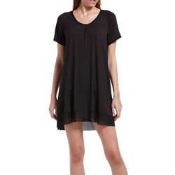 Hue Womens Solid Short Sleeve Nightgown
