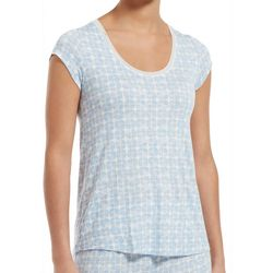 Hue Womens Serenity Short Sleeve Pajama Top