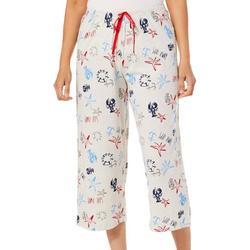 Womens Sailing Print Pajama Capris
