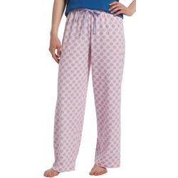 Hue Womens Geometric Floral Print Long Pajama Pants