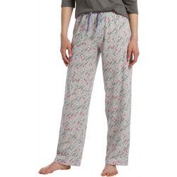 Hue Womens Champagne Print Long Pajama Pants