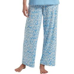 Womens Leopard Print Long Pajama Pants