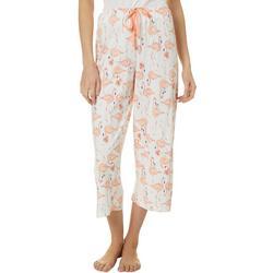 Womens Flamingo Cocktail Pajama Capris
