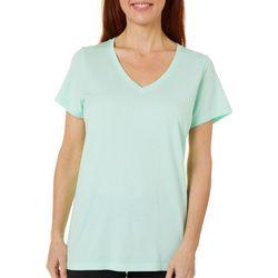 Hue Womens Essential Solid V-Neckline Pajama Top