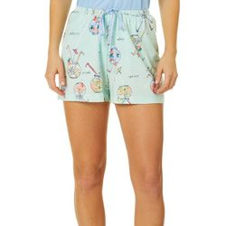 Womens Fishbowl Print Pajama Boxer Shorts