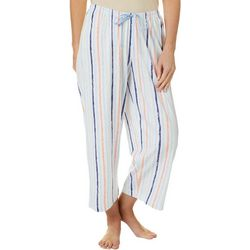 Hue Womens Chalk Stripe Capri Pajama Pants