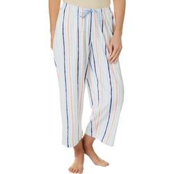 Womens Chalk Stripe Capri Pajama Pants