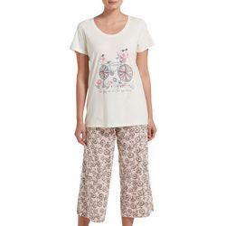 Womens The Joy Is In The Journey Pajama Capri Set