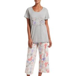 Hue Womens Keep The Faith Pajama Capri Set