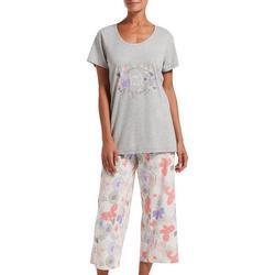 Womens Keep The Faith Pajama Capri Set