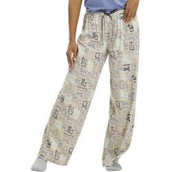 Hue Womens Doggie Doodle Print Long Pajama Pants