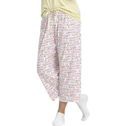 Womens Pineapple Print Capri Pajama Pants