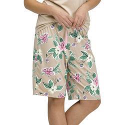 Womens Blossom Print Pajama Bermuda Shorts