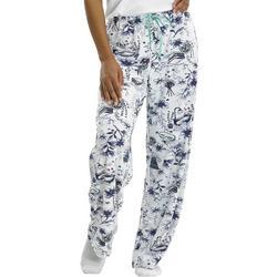 Womens Pamper Yourself Print Long Pajama Pants