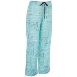 Hue Womens Resolution Print Long Pajama Pants