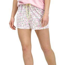 Womens Pineapple Print Pajama Boxer Shorts