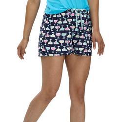 Womens Like A Fish Pajama Boxer Shorts