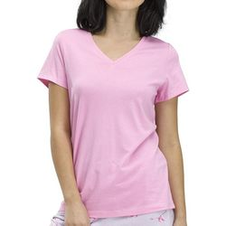 Hue Womens Short Sleeve V-Neck Pajama Top