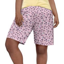 Womens Tiki Hut Bermuda Print Pajama Bermuda Shorts