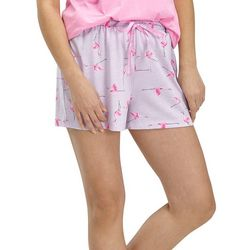 Hue Womens Flamingo Print Pajama Boxer Shorts