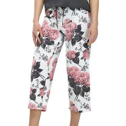 Womens Floral Crop Pajama Pants