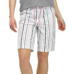 Womens Striped Pajama Boxer Shorts