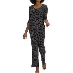 Womens Cat Print Pajama Set