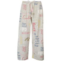 Womens Caring Note Capri Pajama Pants