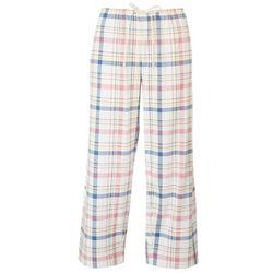 Hue Womens Plaid Capri Pajama Pants