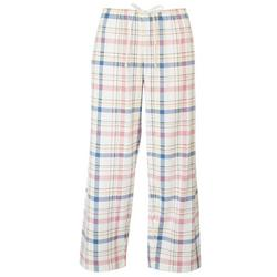 Womens Plaid Capri Pajama Pants