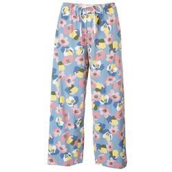 Womens Floral Capri Pajama Pants