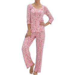 Hue Womens Triangle Martini Pajama Set