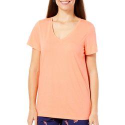 Hue Womens Essential V-Neck Pajama Top
