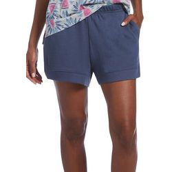 Hue Womens Solid French Terry Pajama Shorts