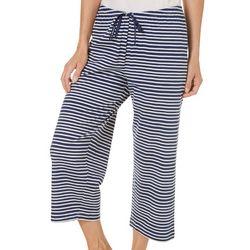 Hue Womens Naval Stripe Pajama Capris