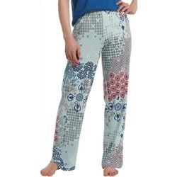 Hue Womens Patchwork Print Pajama Pants