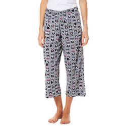 Hue Womens Frenchy Print Capri Pajama Pants