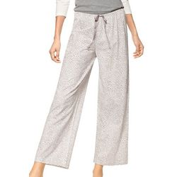 Hue Womens Cheetah Print Long Pajama Pants