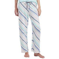 Hue Womens Swirling Stripes Long Pajama Pants