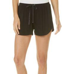 Hue Womens Solid Drawstring Pajama Boxer Shorts