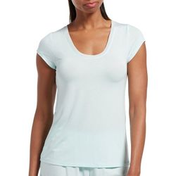 Hue Womens Solid Scoop Neck Short Sleeve Pajama T-Shirt
